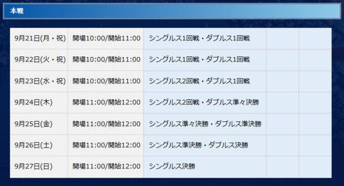 PPO試合日程