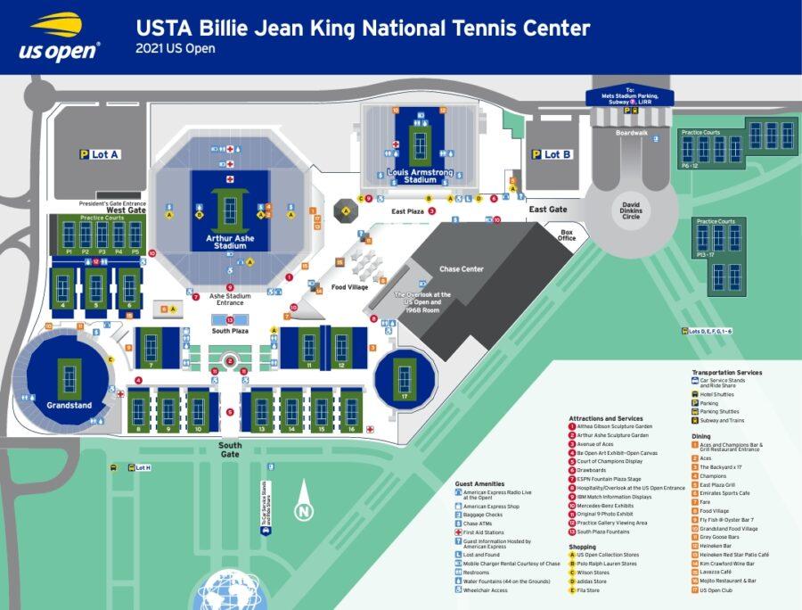 全米オープン2021グラウンドマップ